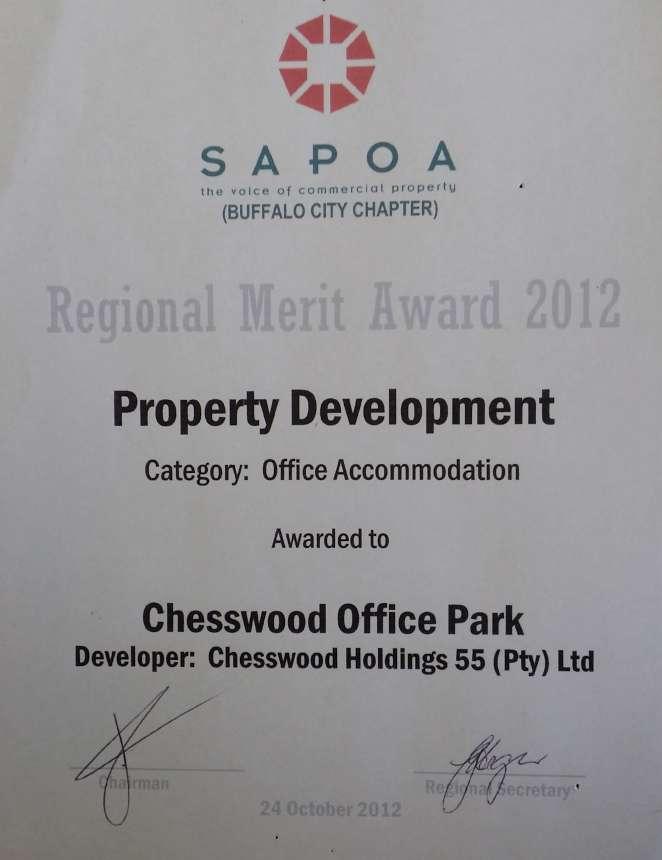 SAPOA Award 2012 - Regional Merit Award-860