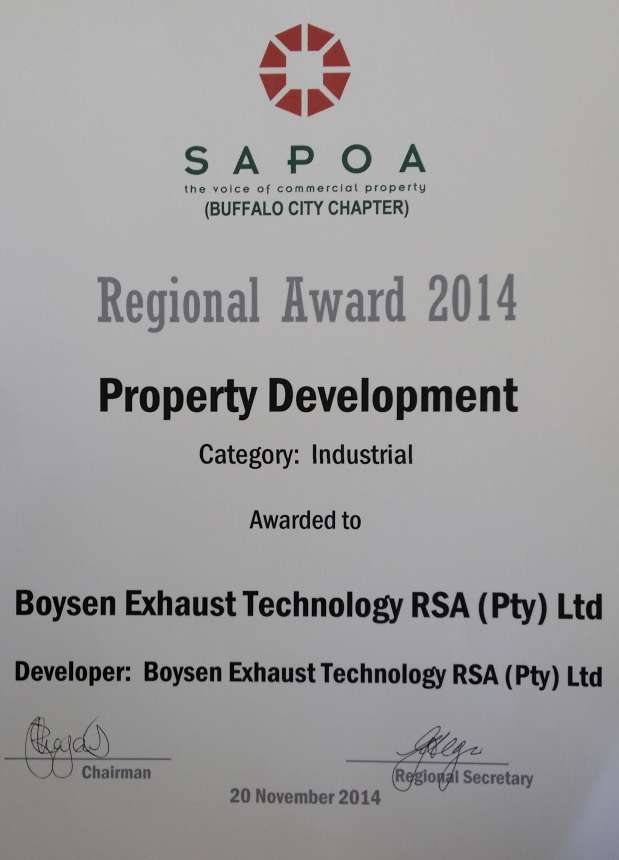 SAPOA Award 2014 - Property Development-860